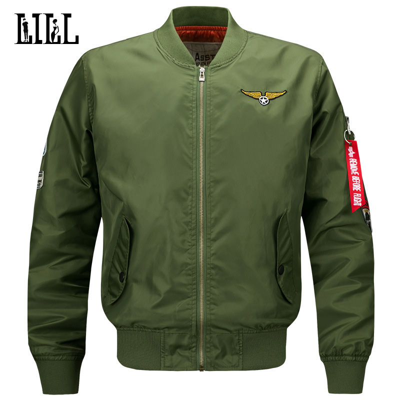 M 6XL Men s Waterproof Bomber Jacket Men Spring Air Force One Army Military Coat Style