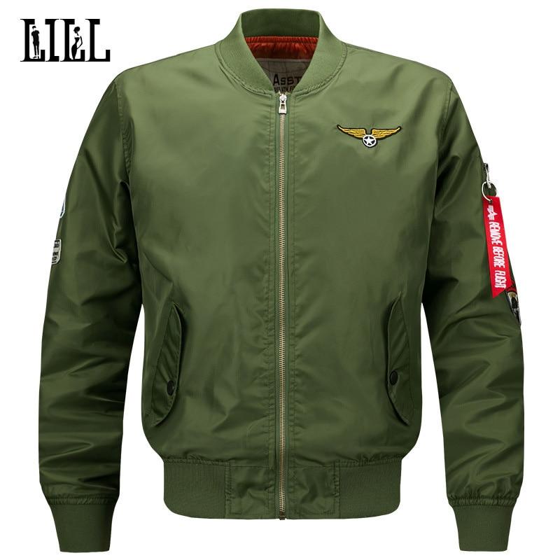 M-6XL férfi vízálló bombázó kabát férfi tavaszi légierő egy - Férfi ruházat