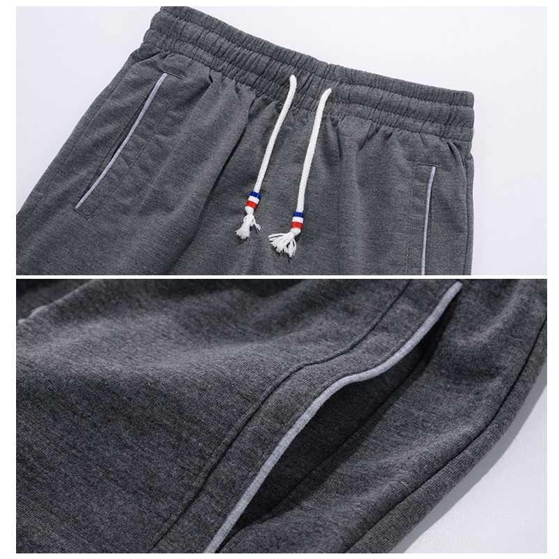 Pantalones cortos casuales de verano para hombre, Streetwear, pantalones cortos de marca de moda, pantalones de chándal sólidos transpirables para hombre, pantalones de talla grande 5XL