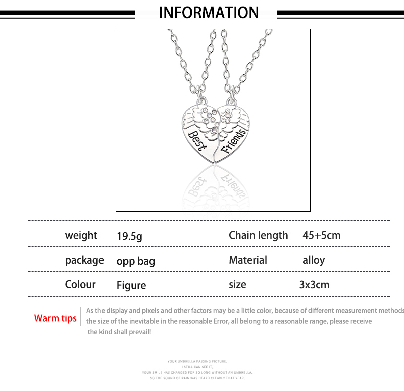 HTB1NQ6MXcnrK1RkHFrdq6xCoFXaQ - Best Friend Necklace Women Crystal Heart Tai Chi Crown Best Friends Forever Necklaces Pendants Friendship BFF Jewelry Collier