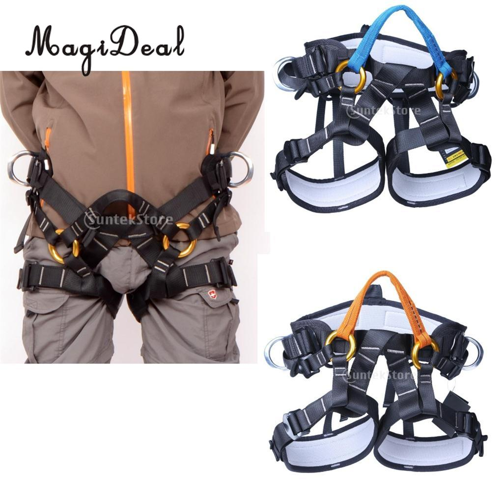 все цены на MagiDeal Outdoor Polyester& Aluminum Alloy Harness Bust Seat Belt Rock Climbing Rappelling Adjustable Belt with Carrying Bag New