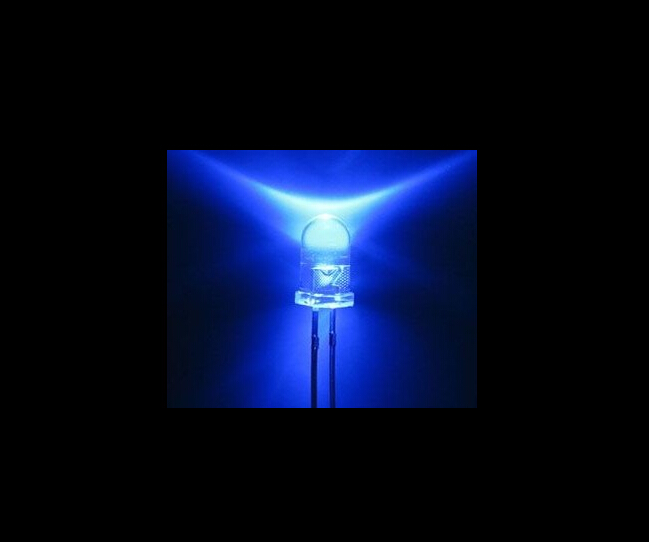 Water Clear Through Hole 5MM Blue Candle Flickering LED Diode