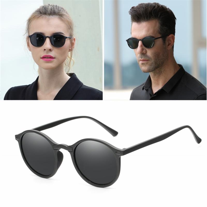 2019 Women Polarized Round Sunglasses Retro Vintage UV400 Driving Steampunk Eyewear Male Small Sun Glasses Gafas Ciclismo