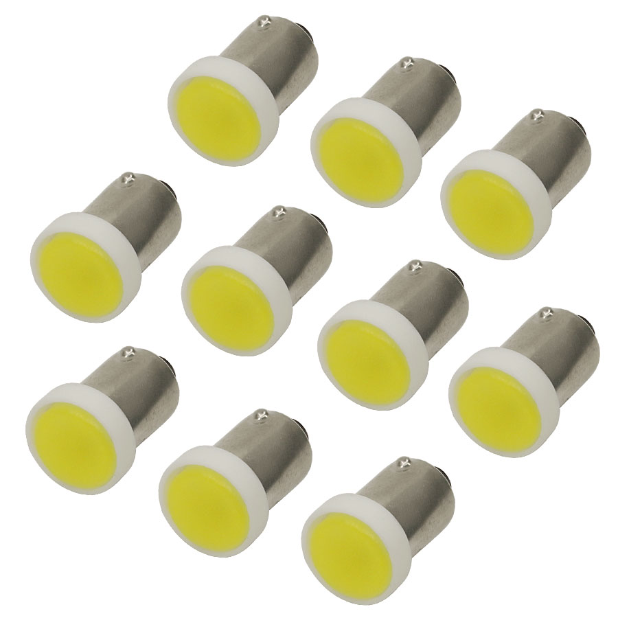 10PCS T4W BA9S COB Flood T4W 30MA 1 LED Wedge Light Bulb Lamp Interior License Plate Turn Signal Lights White DC 12V New