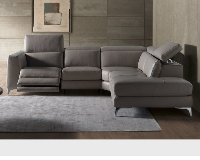 Living Room Sofa Set Corner Recliner Electrical Couch Genuine Leather Sectional Sofas Muebles De Sala
