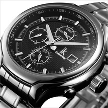 New fully-automatic mechanical wristwatches classic male casual commercial men's Business Stainless Sport Fashion watch