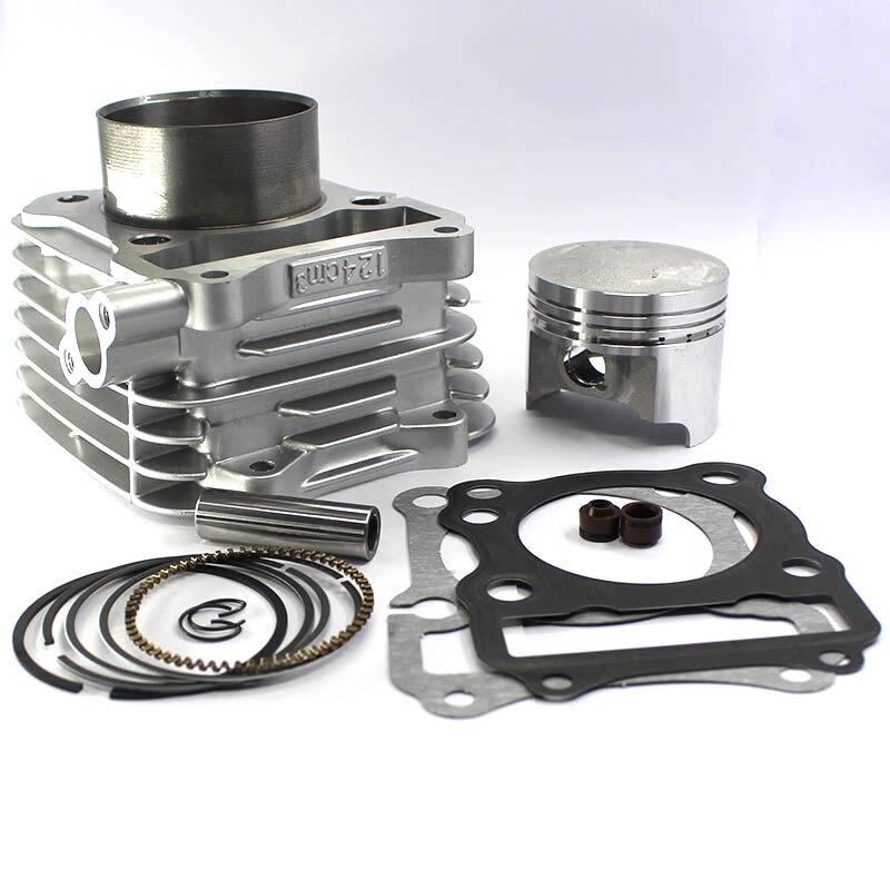 62mm Kit de cylindre de moto pour Suzuki GN 125 GN125 EN125 DR125 GS125 GZ125 TU125 150cc moteur modifié 157FMI Piston convexe