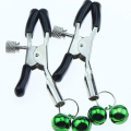 Female Steel Metal Sexy Breast Nipple Clamps Clips with 2 Bells Adult Game Fetish Flirting Teasing Sex Toys for Women Men Couple