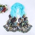 Casa chiffon lenço das mulheres cachecol impressão cachecol 2016 novo design de longo xale capa de seda tippet pashmina Cachecóis YN-160