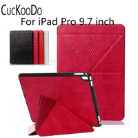 Slim Fit Four Fold Design Stand PC PU Leather Auto Wake Sleep Premium Tablet Case Cover
