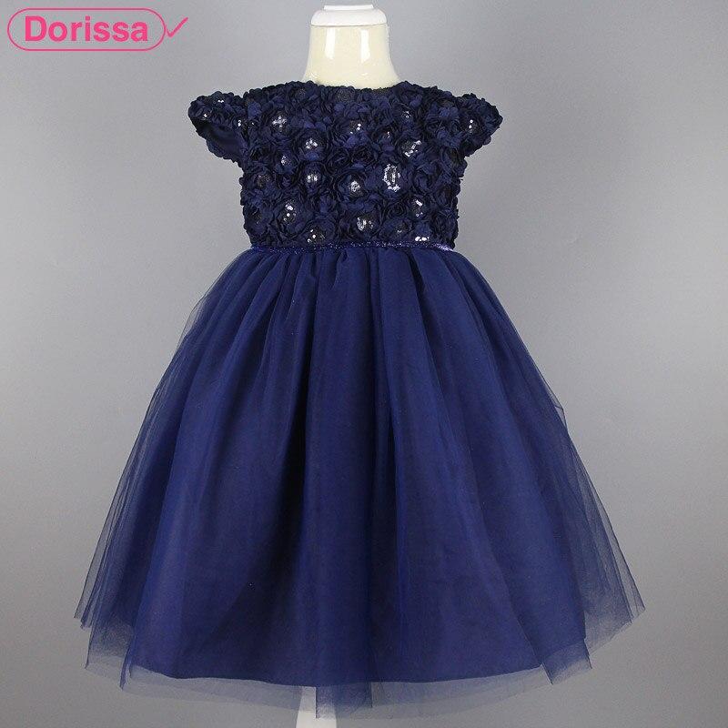 2016 Summer Princess Beading Infant Little Girl Party Dresses Toddler Baby Kid Frock Design Children Formal Prom Tutu Dress 2-8T - Dorissa Store store