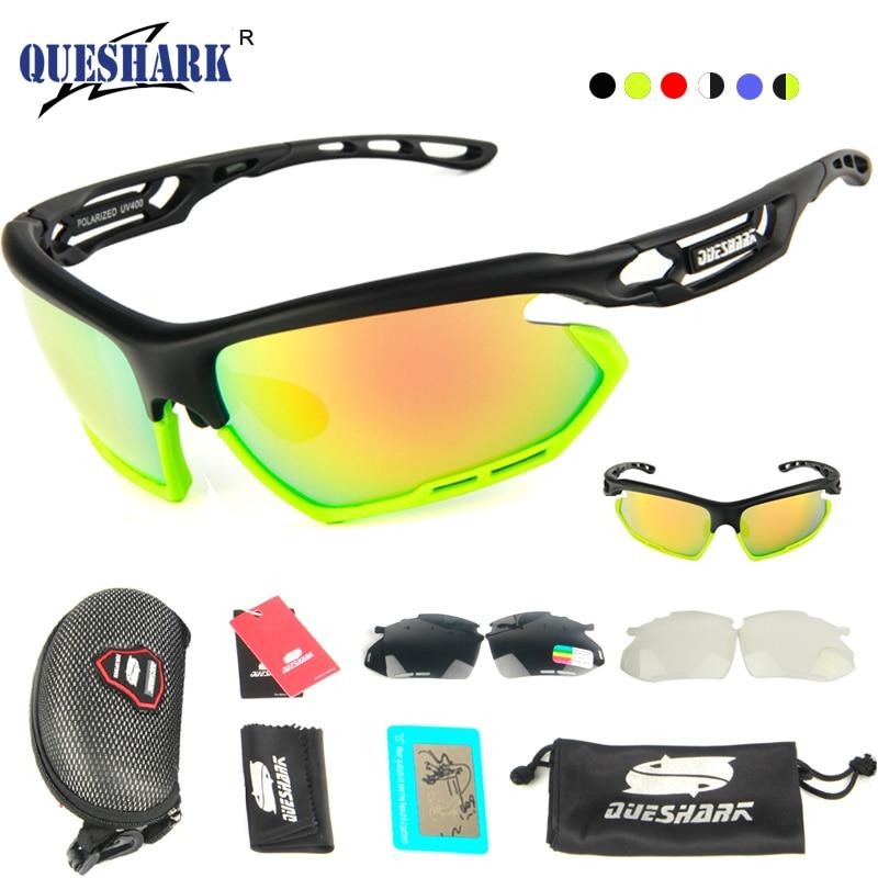 Queshark поляризованные солнцезащитные очки Велоспорт Кемпинг Пеший Туризм Рыбалка очки вождения очки велосипед очки 3 пара объектива