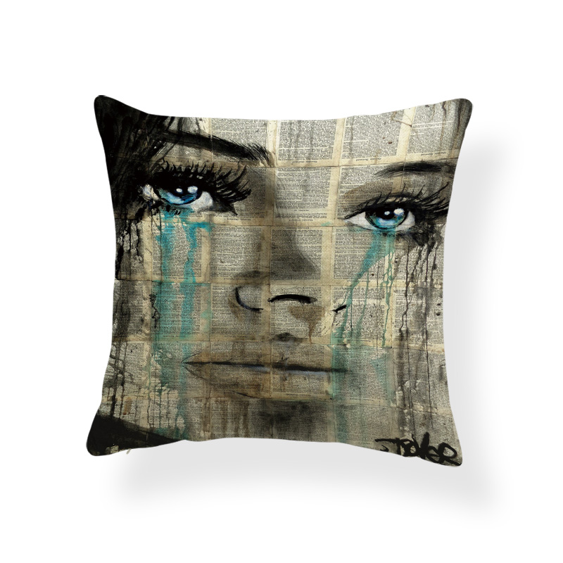 Sexy Girl Kiss Cushions Character Shabby Chic Cover Pillow Coastal Backyard For Sofa Throw Pillow Case Red 18X18 Burlap Designer