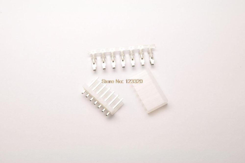 50sets/lot Molex Connector 7Pin,Pitch:3.96MM(.156), Top Entry Type Locking Header + Terminal + Housing, Molex3.96-7P