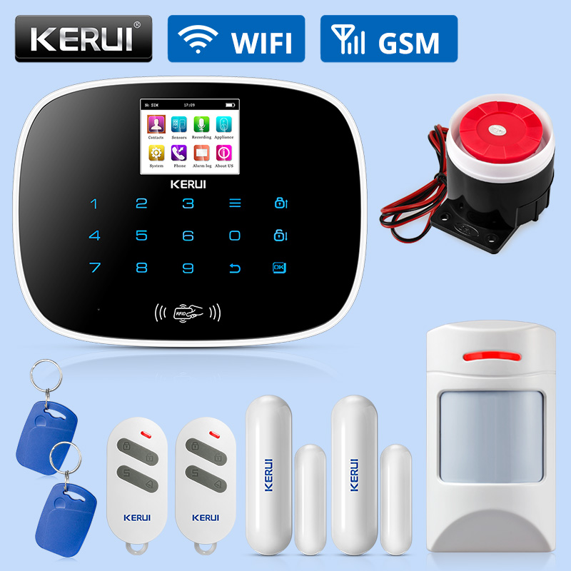 KERUI G19 Wireless Home GSM Alarm Systems Security Home DIY Kit Smart Motion Detection Infrared Induction Alarm Of Door Sensor