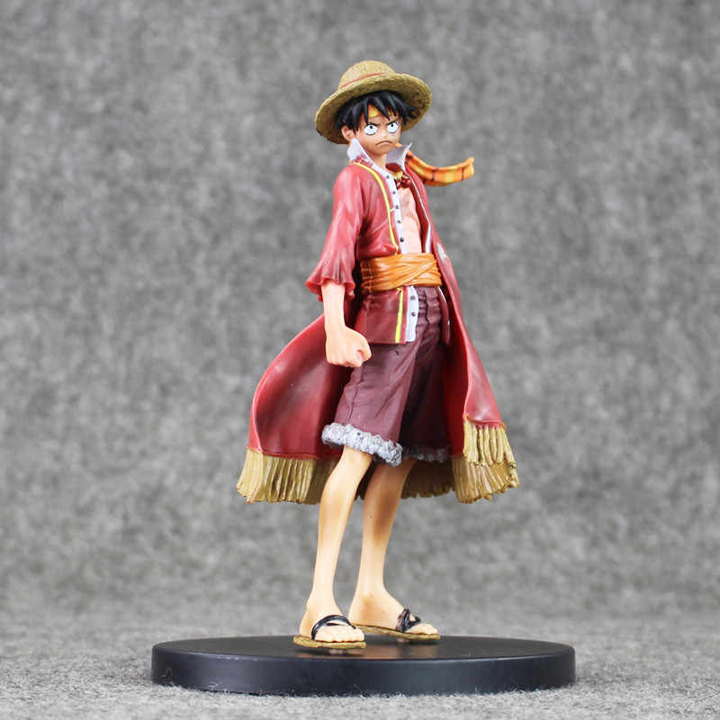 Anime One Piece Monkey D. Luffy Ultimate King Ver. Jubah Merah PVC Action Figure Op One Piece Monkey D. Luffy Collectible Model Mainan 18 Cm