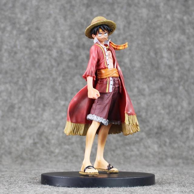 Anime Een Stuk Monkey D Luffy De Ultieme Koning Ver. Rode Mantel Pvc Action Figure Op Luffy Collectible Model Toy 18 Cm