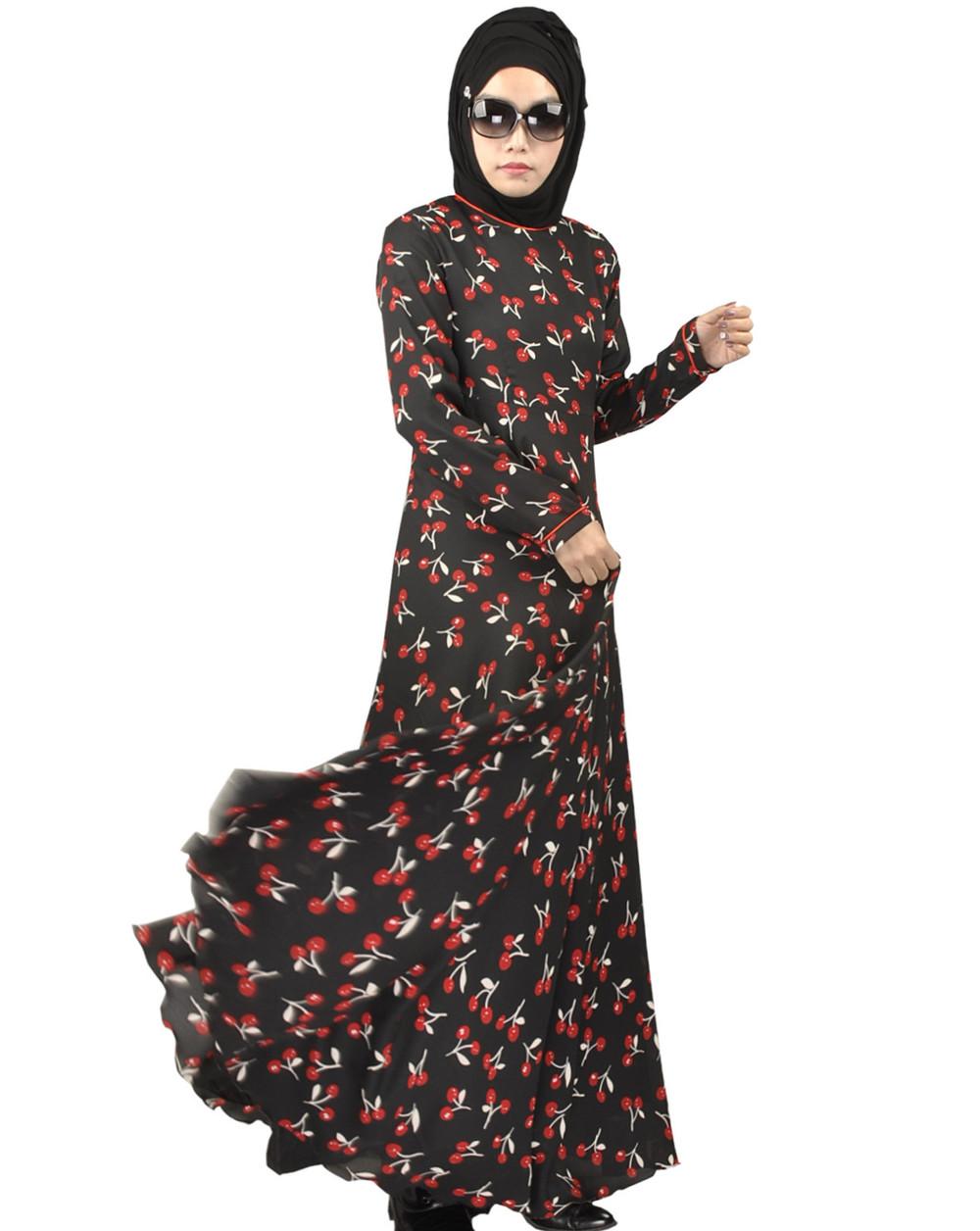 11dceee173df 2016 Moda Abaya Muçulmano Dubai Vestuário Islâmico Para As Mulheres  Muçulmanas Abaya Jilbab Djellaba Musulmane Vestido Estampado Floral rendas  abaya