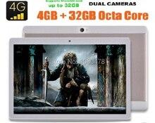 2017 El Más Nuevo 4G tablet pc 10 pulgadas Octa Core 4G LTE FDD 4 GB RAM 32 GB ROM 1920*1200 IPS Cámaras Duales Dual SIM Cards GPS tabletas