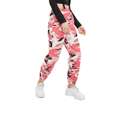 2019 Camouflage Cool Camo Women Pants High Waist Trousers Loose Women Pockets Streetwear New Arrival Casual Ladies Pants Bottoms green side pockets camouflage drawstring waist active bottoms