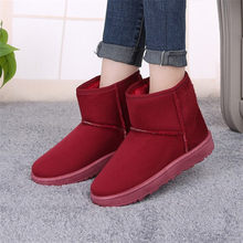 Classic waterproof genuine cowhide leather snow boots Wool Women Boots Warm winter shoes for women 36-40(China)