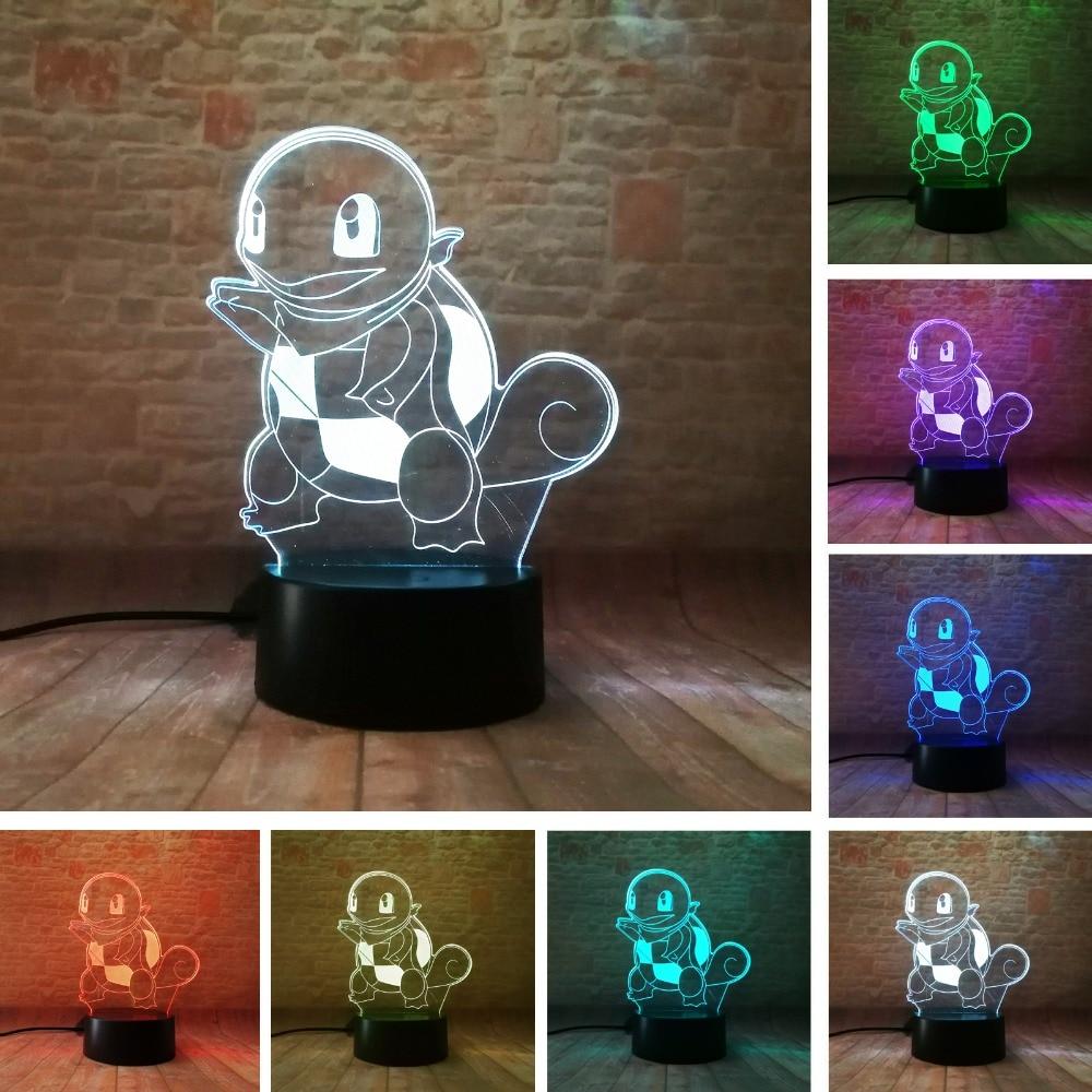 Humor Children Kids Desk Table Led Lamp Tortoise Turtle Lamp Led Lamp Attractive Icecream Table Night Light Night Lights