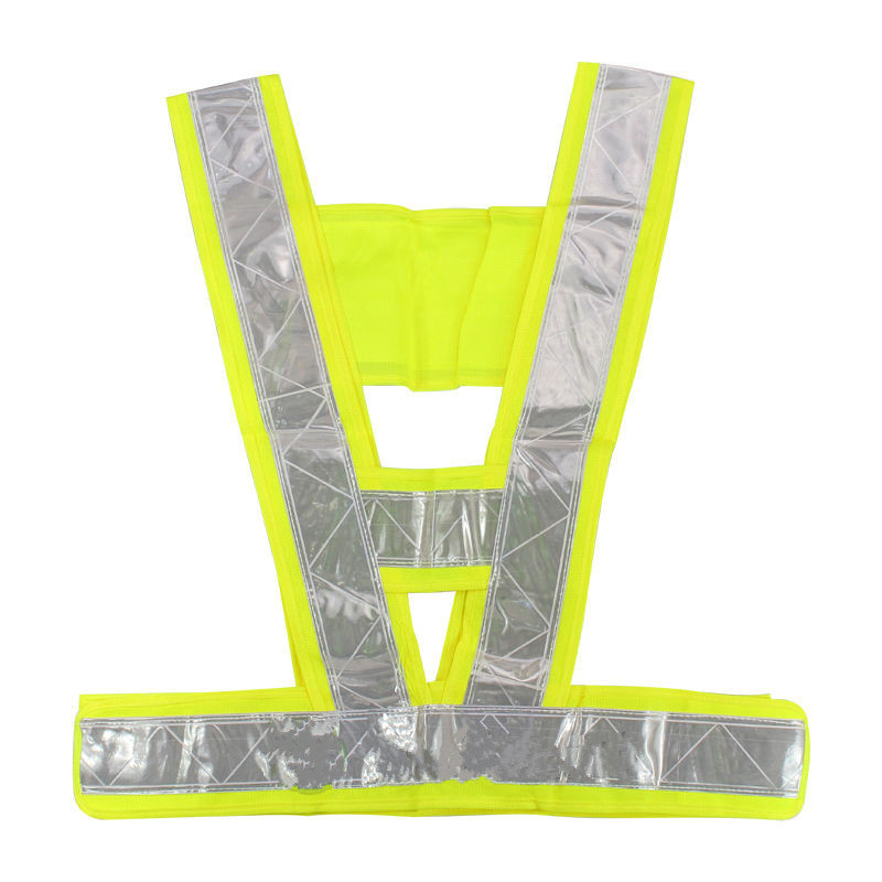 New Arrival Durable Hot Sale High Safety Security Visibility Reflective Stripe Vest Gear Green