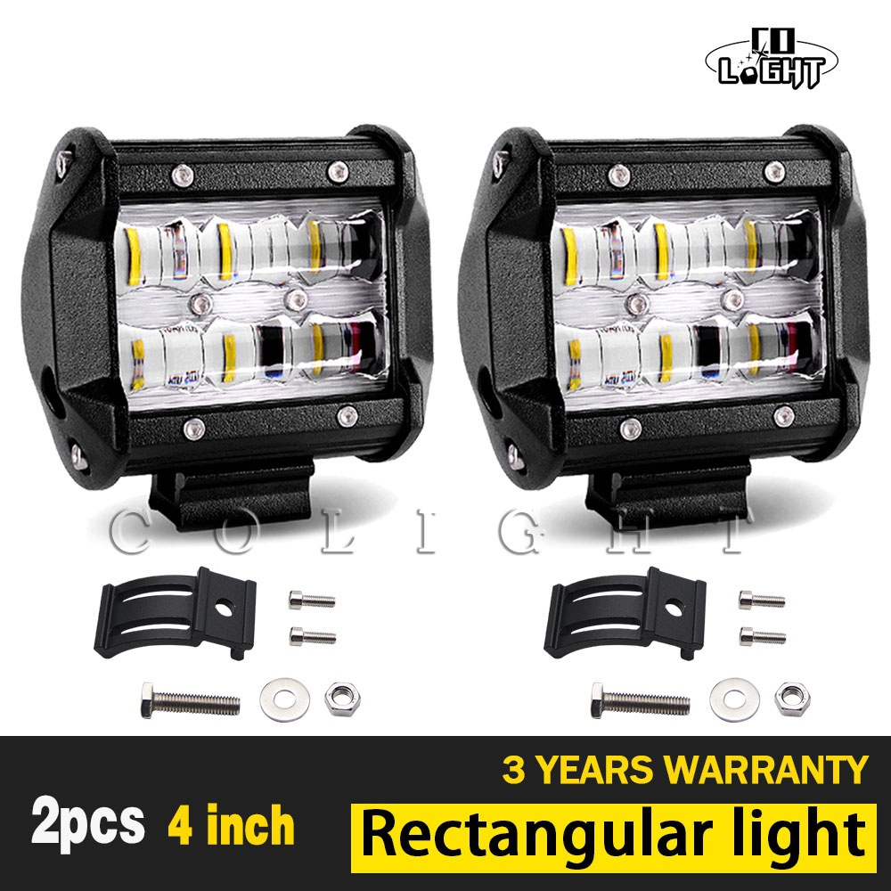 CO LIGHT 1 Pair Led Light Beam 9D Fog Lights 4'' Led Bar for Uaz 4X4 Lada Niva Jeep Tractors Ford 4Wd Driving Car Styling 30W co light 90w 20 led bar slim offroad 6d 6000k single work light bar combo for barra led lada niva 4x4 jeep ford car styling
