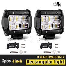 "CO LIGHT 1 Pair Led Light Beam 9D Fog Lights 4"" Led Bar for Uaz 4X4 Lada Niva Jeep Toyota VW Ford 4Wd Driving Car Styling 30W"