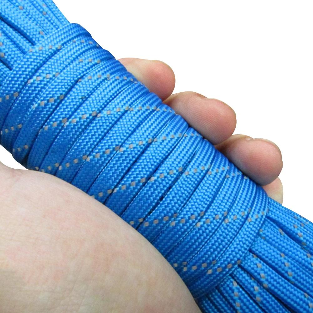 Диаметр 4 мм парашют веревка палатка ремесла отражающая палатка веревка воды исследовать парашют 31 м износостойкость Кемпинг шнур - Цвет: blue