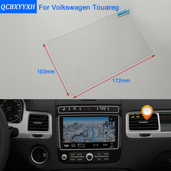 Car Styling 8 Inch GPS Navigation Screen Steel Glass Protective Film For Volkswagen Touareg Control of LCD Screen Car Sticker image
