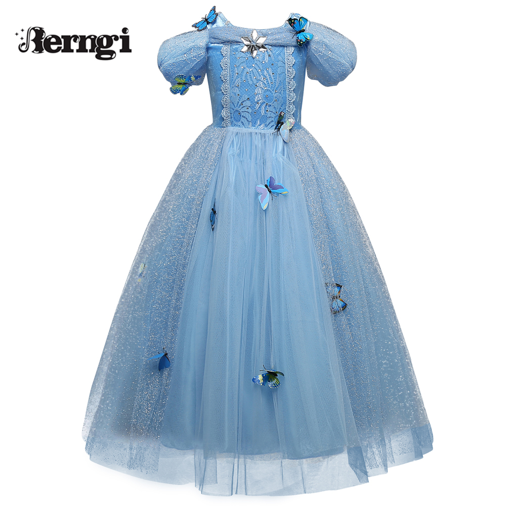 New Baby Girl Anna Elsa Dress High-Grade Sequined Princess Cinderella Fancy kids clothes For Party Costume Snow Queen Cosplay elsa dress sparkling snow queen elsa princess girl party tutu dress cosplay anna elsa costume flower baby girls birthday dresses