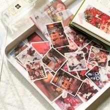 60 шт./лот, милые корейские декоративные наклейки, ностальгические кофейные канцелярские принадлежности, скрапбукинг, сделай сам, дневник, этикетка, альбом, наклейка для школы Учителя