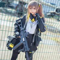 Girls Frontline Cosplay ump45 Cosplay Costume For Woman Cos Set Coat+Shirt+Skirt+Gloves+Armband+Bags