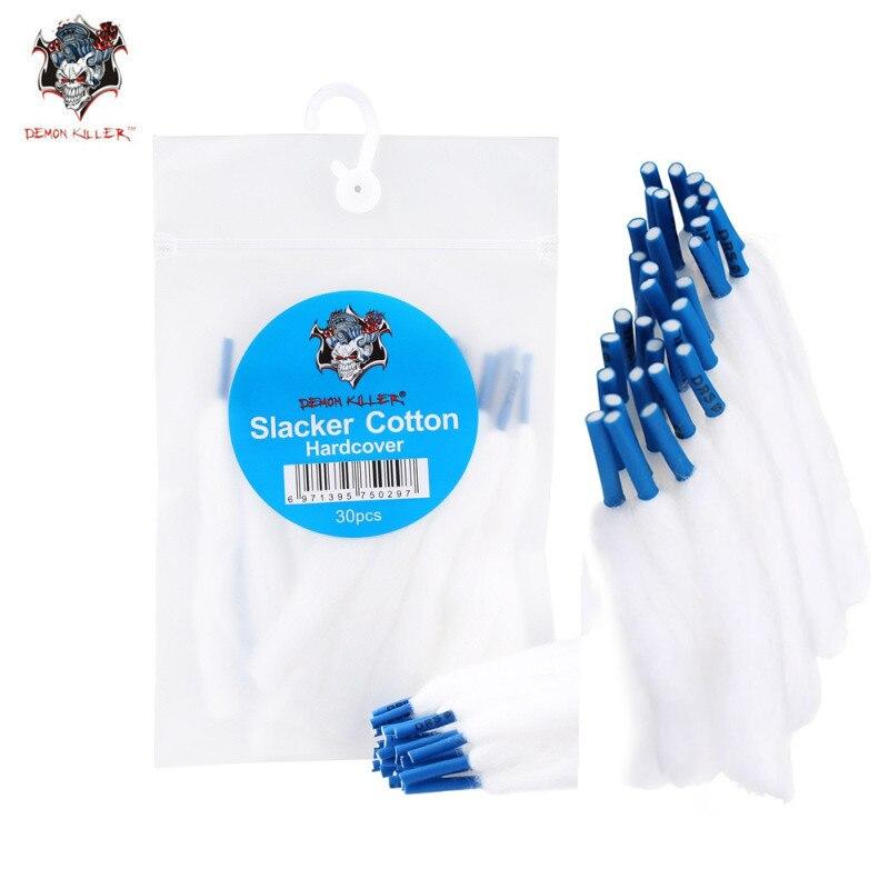 Organic DemonKiller Vape Cotton 30Pcs/Bag Slacker Cotton Hardcover Easy To Use Lace Cotton For Rda RDTA Atomizer
