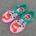 14-16.5cm Brazil Mermaid girls sandals jelly baby girl cartoon princess slippers female child garden shoes summer clogs cute