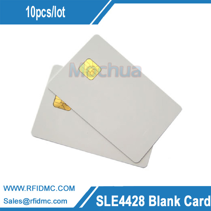 SLE4428 Contact IC card ISO7816 PVC Smart IC Card 30mil Glossy 200pcs fm4428 iso7816 contact ic card contact smart card for social security