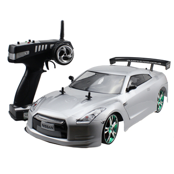 Large RC Car 1:10 High Speed Racing Car For Nissan GTR Championship 2.4G 4WD Radio Control Sport Drift Racing  electronic toy 1