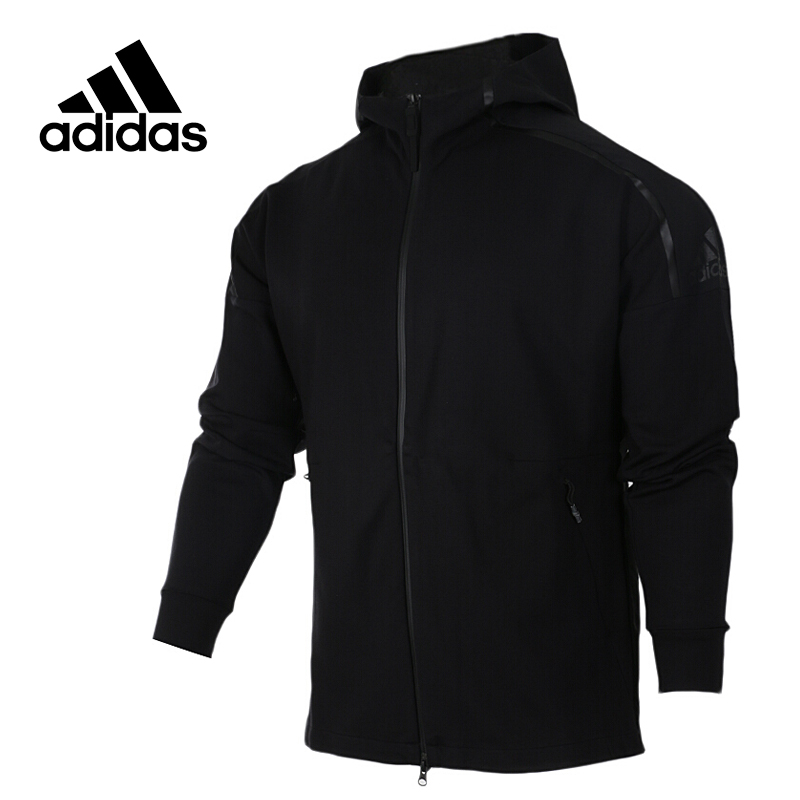 Original New Arrival Official Adidas Men's Breathable Jacket Hooded Sportswear original new arrival official adidas neo women s knitted pants breathable elatstic waist sportswear