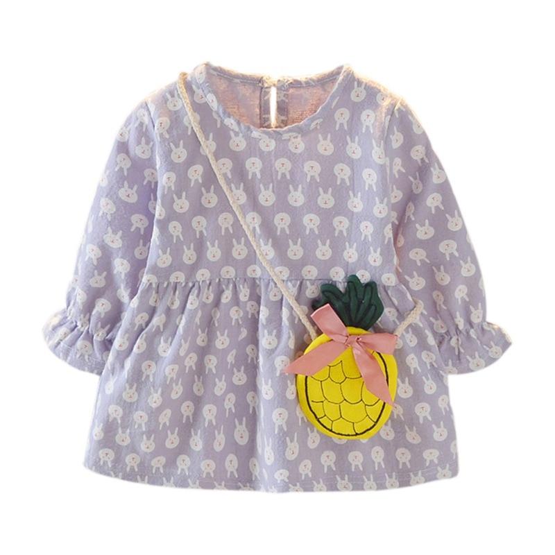 Toddler Newborn Baby Girl Kids Long Sleeve Cotton Princess Dress Autumn Clothes