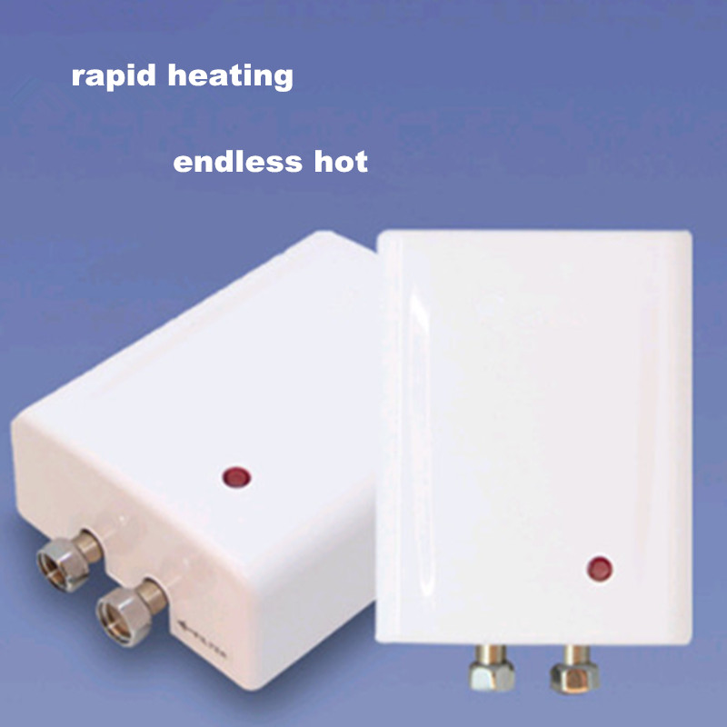 4500W Electric Induction Rapid Instantaneous Hot Top Bottom Outlet Tankless Water Heater Shower Solar Heater Backup