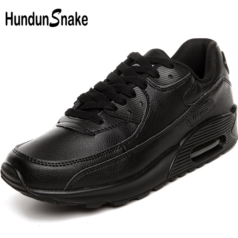 Hundunsnake Men Sneakers Women Running Shoes Men Sports Shoes For Male Sport Men Shoes Leather Men's Footwear Athletic Gym T6