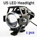 1 unids 15 W Linterna de La Motocicleta Moto Motos U5 proyector 1500LM LED viruta Del Cree de Conducción del Punto de Luz Principal Lámpara auxiliar 2016