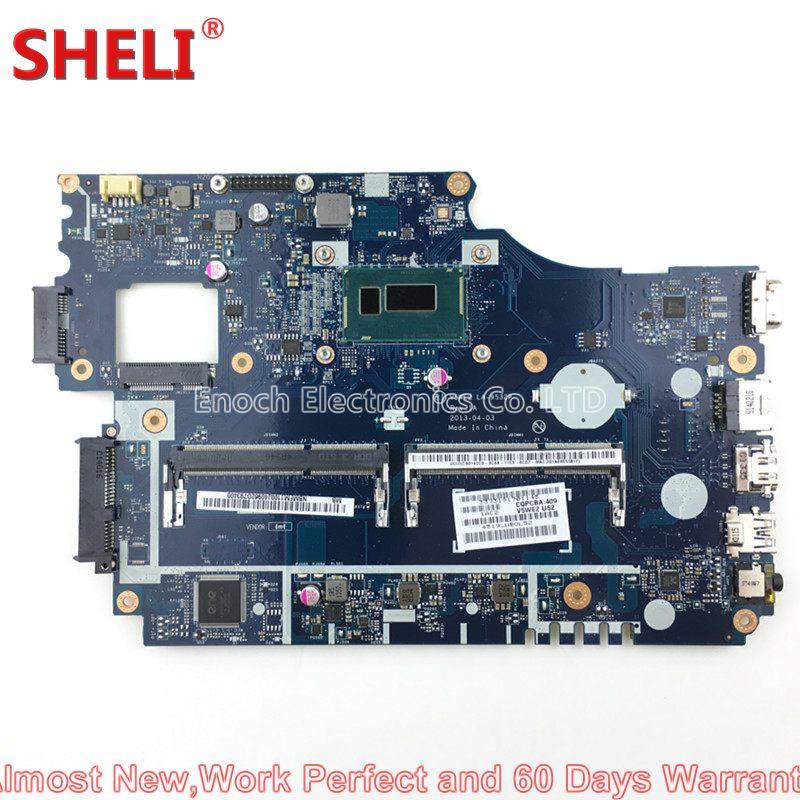 все цены на SHELI for Acer Aspire E1-532 Laptop Motherboard NBMFM1100J NB.MFM11.00J SR1DV 2957U 1.4GHz V5WE2 LA-9532P work perfect онлайн