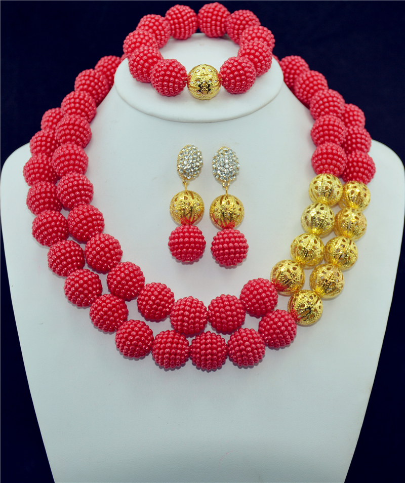 Accessories Wedding African Beads New Jewelry Sets 18 K Gold Plated font b Crystal b font