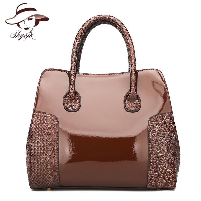 Luxury Brand Designe Patent Leather Women Handbag Alligator Ladies Casual Shoulder Messenger Bags Female Tote Purse Sac A MainLuxury Brand Designe Patent Leather Women Handbag Alligator Ladies Casual Shoulder Messenger Bags Female Tote Purse Sac A Main