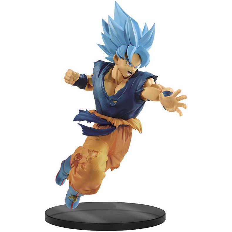 Anime Original Banpresto Dragon ball Super SOLDADOS FINAIS-O FILME Azul Goku Action Figure Toys Dolls Brinquedos Figurals