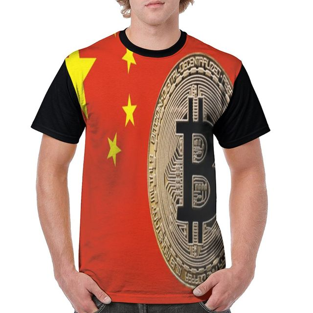 SAMCUSTOM Men T full printing cryptocurrency Gold Bitcoin 3D casual spring, summer and autumn men's short sleeve T-shirt 5