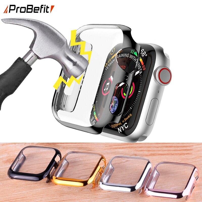 360 Полный экран протектор Бампер Ультра тонкий жесткий чехол для Apple серии 3/2/1 38 мм 42 мм чехол для iwatch 4/5/6/SE 40 мм 44 мм