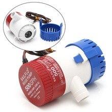 500GPH 12V nieautomatyczna elektryczna zatapialna pompa zęzowa pompy części akcesoria